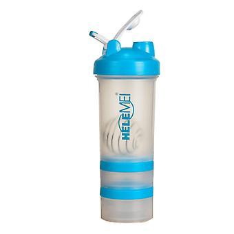 Scrub Shaking Cup Eiwitpoeder Milkshake Cup Sport Fitness Water Cup Met Schaal Met Pillendoos Dubbele Laag