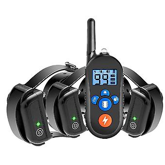 Dog training collar anti-barking 800m remote control electric shock vibration warning pet supplies electronic waterproof training aids