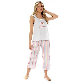 Foxbury Womens/Ladies T-Shirt And Bottoms Pyjama Set