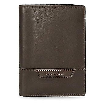Movom Highway Vertical wallet with Brown 8.5x11.5x1 cms Leather coin purse