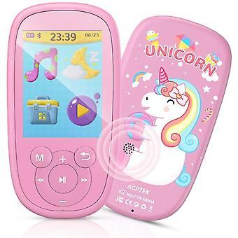 FengChun MP3 Bambini, Lettore MP3 MP4 con Grande schermo da 2,4 Pollichi 8GB, MP3 Player Portatile