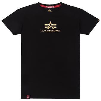 Alpha Industries Dames T-Shirt Basic Lange Folie Print