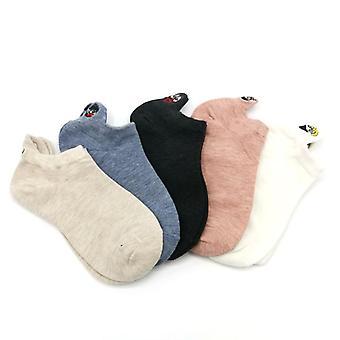 Hímzett kifejezés Happy Fashion Boka pamut nyári zokni