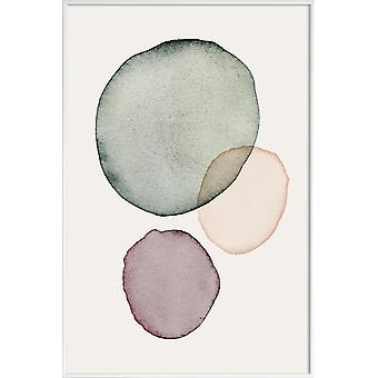 JUNIQE Print - Calm - Posters abstraits et géométriques en vert & noir