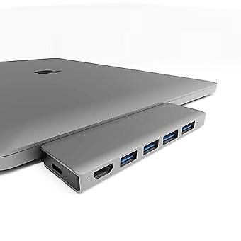 6 1 hub apple laptop hdmimulti funkcióú kétfejű type-c hub dokkoló állomás