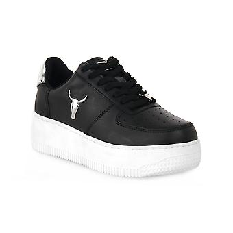 Windsor smith rich brave blk silver sneakers fashion