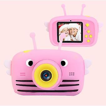 Bee pink portable full-hd 1080p digital mini camera for kids child az962