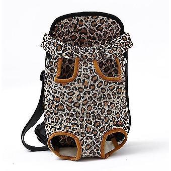 Leopard l verkko lemmikkieläinten kantoteline hengittävä naamioida olkapään kahva pussit cai195