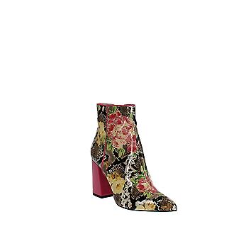 Betsey Johnson   Cait Floral Snake-Embossed Ankle Boot