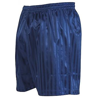 Präzision gestreift Econtinental Fußball Shorts 34-36 Zoll Marineblau
