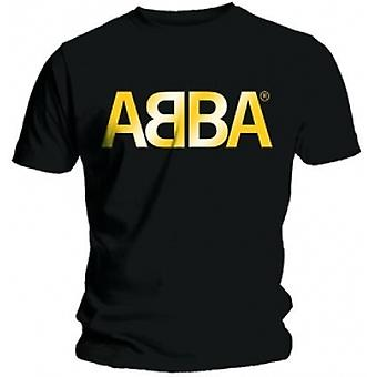 ABBA Gold Logo Mens Black T Shirt: X Large