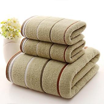 Soft Absorbent Three-piece Cotton Bath Towel Set