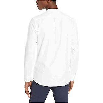Goodthreads Miesten vakiovarusteinen pitkähihainen nauhapanta Oxford Shirt, -valkoinen, Suuri
