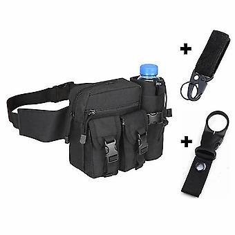 حقيبة سوداء جديدة والسنانير التكتيكية حقيبة الخصر زجاجة المياه الهاتف الحقيبة للرياضة في الهواء الطلق sm16559