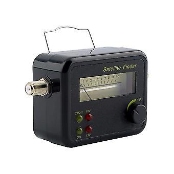 Testador do medidor de medidor de sinal de satélite de tela lcd preto preto plástico