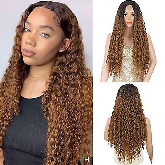Synthetic front wigs long curly wigs  red/blonde cosplay wigs hair for africa and america