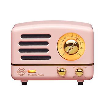 Bluetooth speaker, wireless connection speaker with FM / AUX function, portable wireless speaker, suitable for home office and outdoor(Pink)