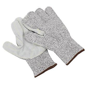 Cow Leather Work Gloves Palm Protection Cut Resistant Gloves