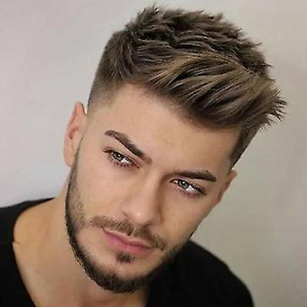 Mens Natural Short Wigs Synthetic Straight Hair Handsome Cosplay Party Full Wigs
