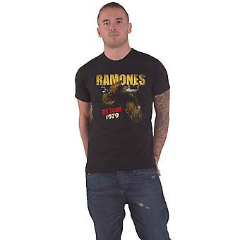 Ramones T Shirt Tour 1979 Band Logo ny Officiell Mens Black