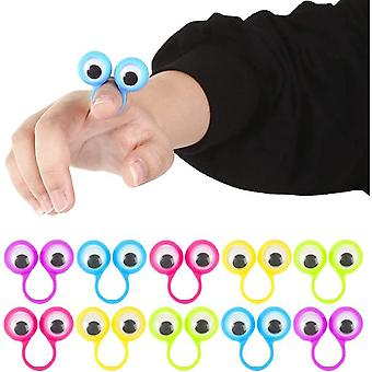 3 Otters Eyeball Ring, 25 Pieces Of Eye Finger Puppet