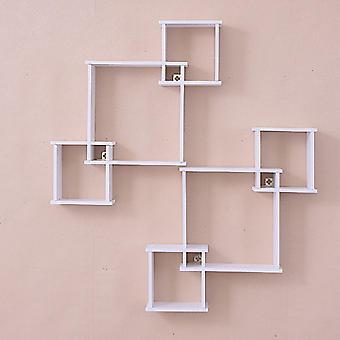 التخزين رف الرف حامل الجدار شنقا منظم الديكور الإبداعي لغرفة النوم الرئيسية| خزن