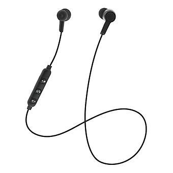STREETZ In-ear BT headphones with microphone and media/answer buttons, black