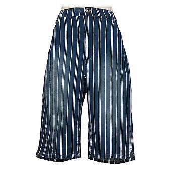 DG2 von Diane Gilman Damen Plus Shorts Bermuda Blue 743595
