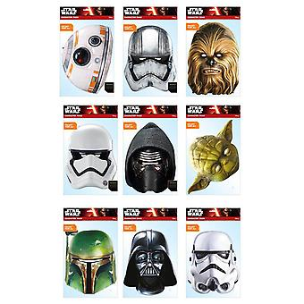 Star Wars Official 2D Card Party Fancy Dress Masks Variety 9 Pack