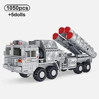 1015Pcs Militaire Éducatif Jouets Défense Aérienne Missile Véhicule Blocs de Construction Modèle Soldat