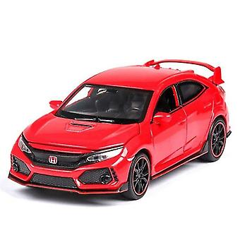 Toy cars 1:32 honda civic type r diecasts toy vehicles metal car model sound light collection car toys