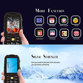 """No.1 A9 2.4"""" Waterproof Mobile Cell Phone Shockproof Dual Sim Cards Alarm"""