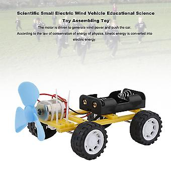 Scientific Small Electric Wind Vehicle Educational Science Toy Assembling Toy