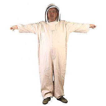 Beige Thick Hoodied Beekeeping Uniform Euipment Anti-bee Clothes