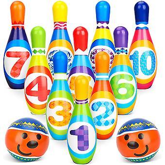 البولينج مجموعة Skittles لعبة للأطفال مع التنمية المبكرة لعبة داخلية