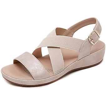 kvinners åpen tå mote spenne arbeidsplattform sommer sandaler