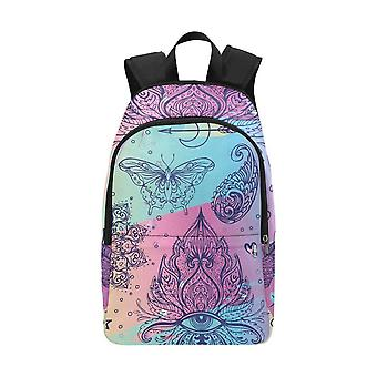 Laptop backpack (nylon) - colorful doodle