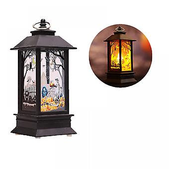 Halloween Pumpkin Lantern Candle Light Led Electronic Light Plastic Decorations