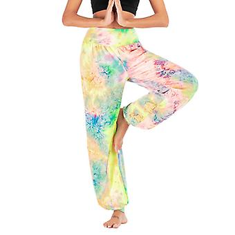 Women Tie Dye Yoga Harem Baggy Palazzo Casual Wide Leg Trousers