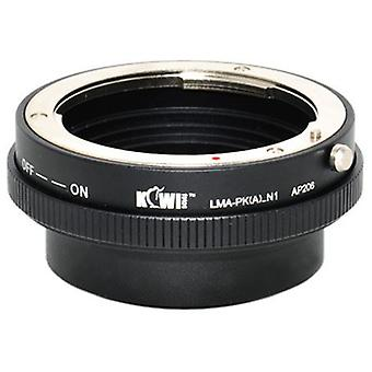 Kiwifotos lente adattatore di montaggio con anello di controllo di apertura: permette di Pentax K-Mount lenti a baionetta per essere utilizzato su qualsiasi fotocamera mirrorless Nikon 1 serie