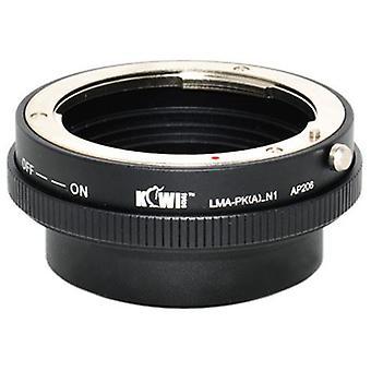Kiwifotos προσαρμογέας mount προσαρμογέα με δακτύλιο ελέγχου διαφράγματος: επιτρέπει Pentax K-mount φακούς με ξιφολόγχη να χρησιμοποιηθούν σε οποιαδήποτε κάμερα Nikon 1 Series χωρίς καθρέφτη