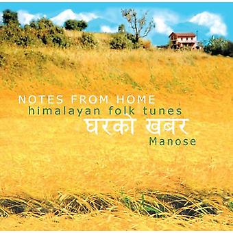 Manose - Notes From Home-Himalayan Folk Tunes [CD] USA import