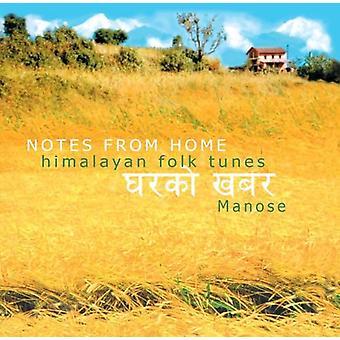 Manose - importation USA Notes de maison et de l'Himalaya Folk Tunes [CD]