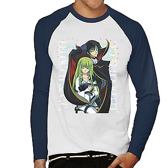 Lelouch And CC Code Geass Men's Baseball Long Sleeved T-Shirt