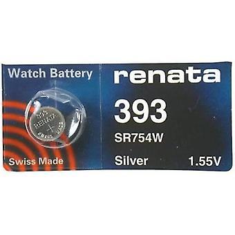 Renata 393 Mercury Free 1.55 Volt Watch Battery Replaces - Pack of 10 (SR754W)