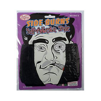 Beards and mustaches Men Black sideburns (2 pieces)