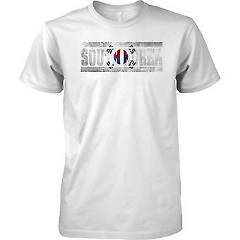 Efecto bandera de Corea del sur Grunge país nombre - para hombre T Shirt