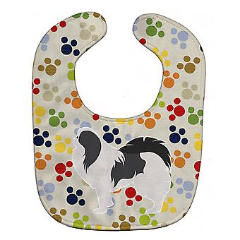 Carolines Treasures  BB6342BIB Japanese Chin Pawprints Baby Bib