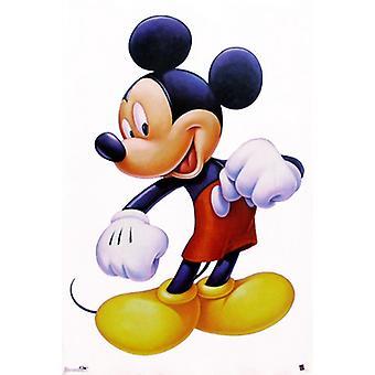 Mikke Mus malt portrett Poster trykk av Walt Disney (22 x 28)