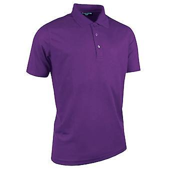 Glenmuir Mens Plain Performance Pique Short Sleeve Golf Polo Shirt